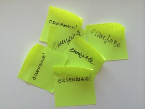 essenziale post-it