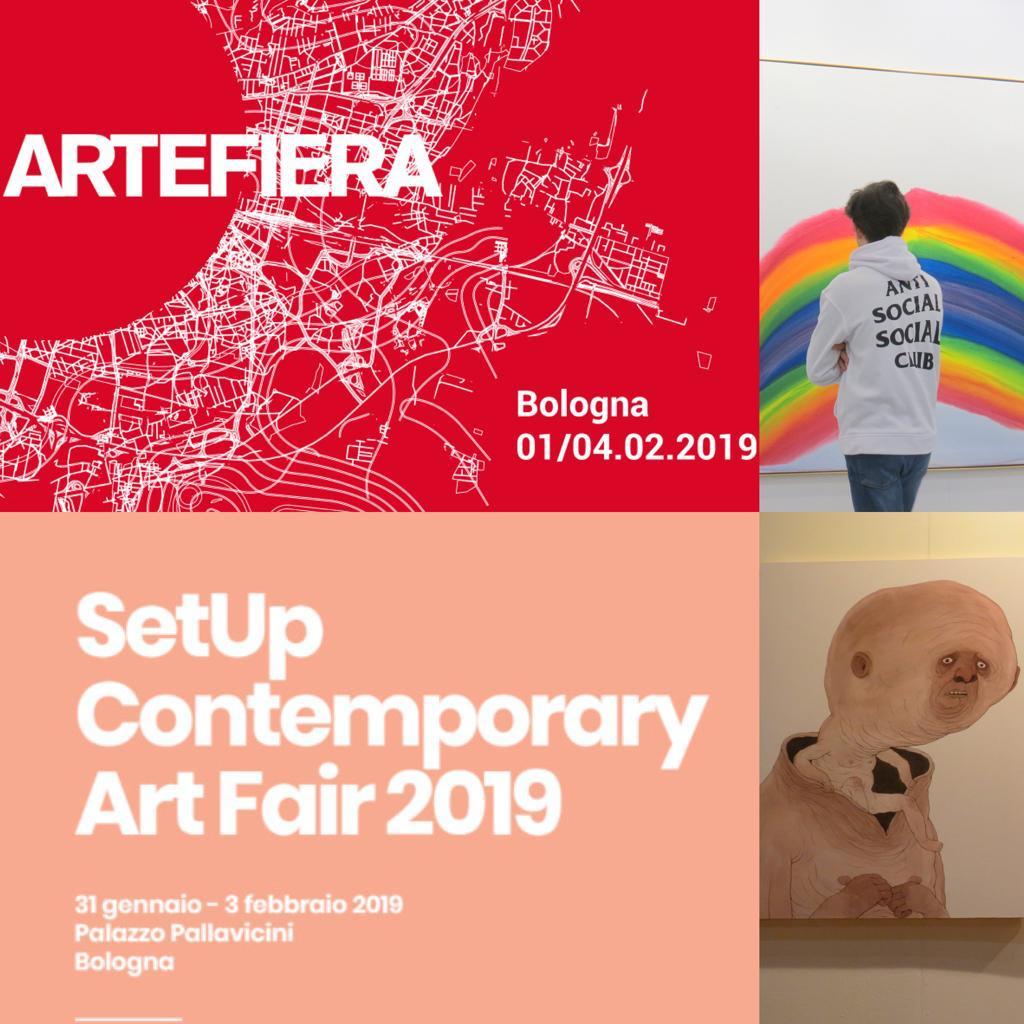 Arte Fiera 2019, SetUp, immagini d'arte